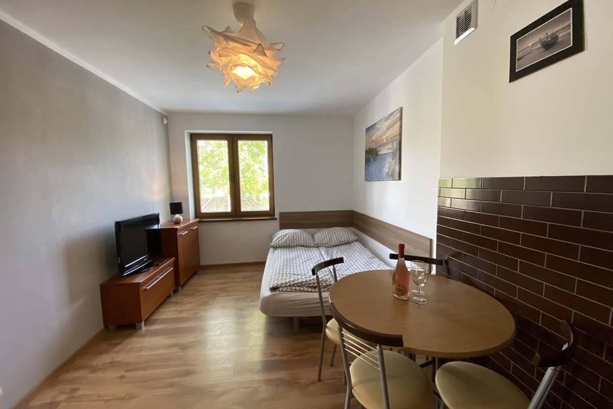 Widok na pokoj w apartamencie